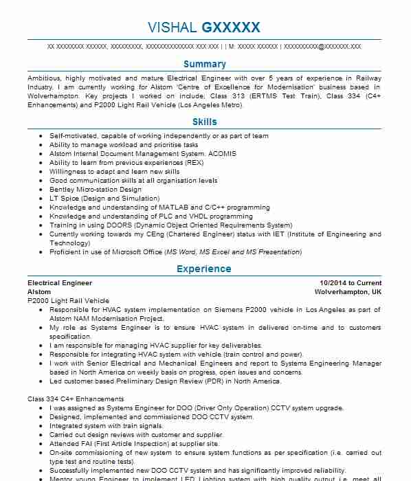 electrical and electronic engineers cv examples engineering cvs livecareer sample resume Resume Sample Resume For Experienced Electronics Engineer