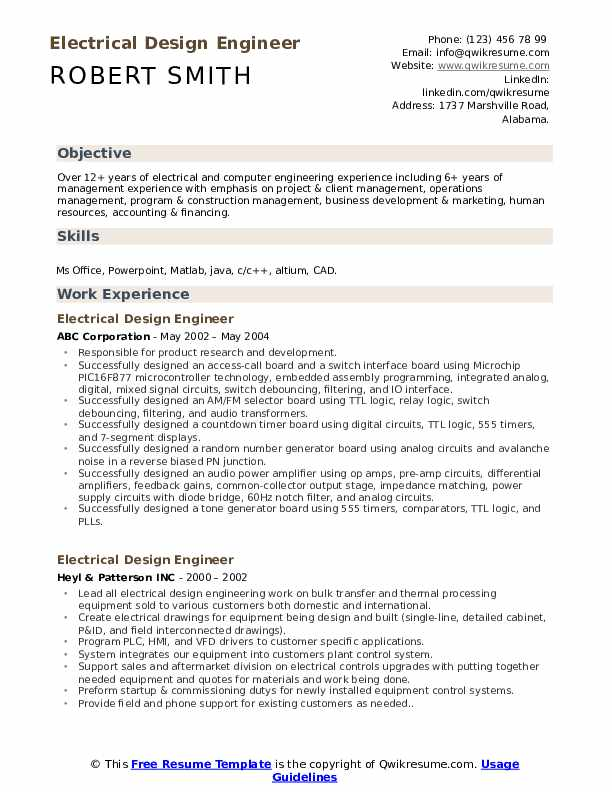electrical design engineer resume samples qwikresume sample pdf nail another word for Resume Electrical Design Engineer Resume Sample