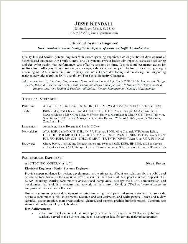 electrical engineer cv format engineering resume templates examples control systems Resume Control Systems Engineer Resume Sample