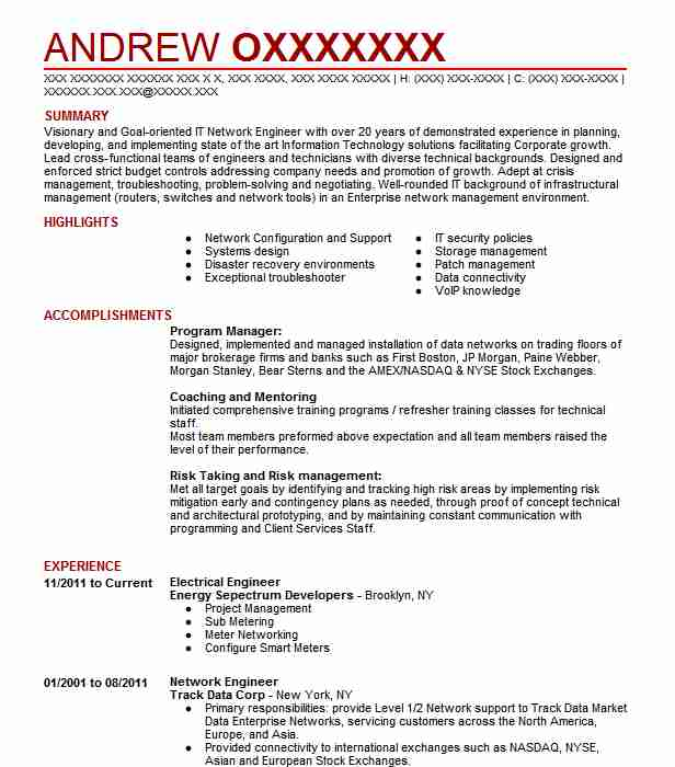 electrical engineer resume example resumes misc livecareer sample for experienced Resume Sample Resume For Experienced Electronics Engineer