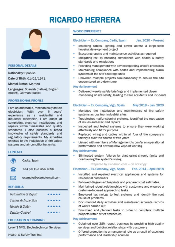 electrician cv examples and writing guide nation auto resume sample elon musk business Resume Auto Electrician Resume Sample