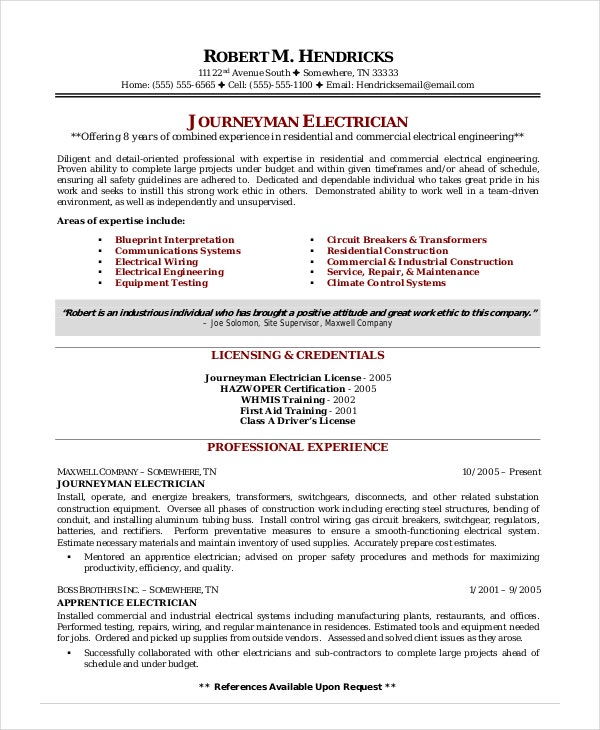 electrician resume template free word excel pdf documents premium templates auto sample Resume Auto Electrician Resume Sample