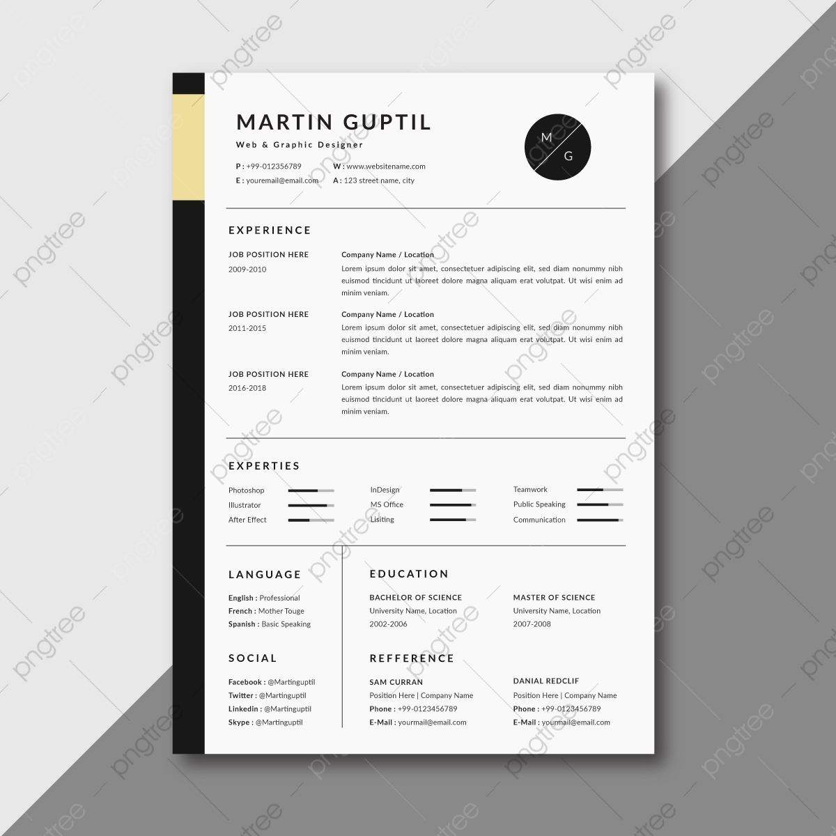 elegant resume template on pngtree image fine dining server skills professional engineer Resume Elegant Resume Template