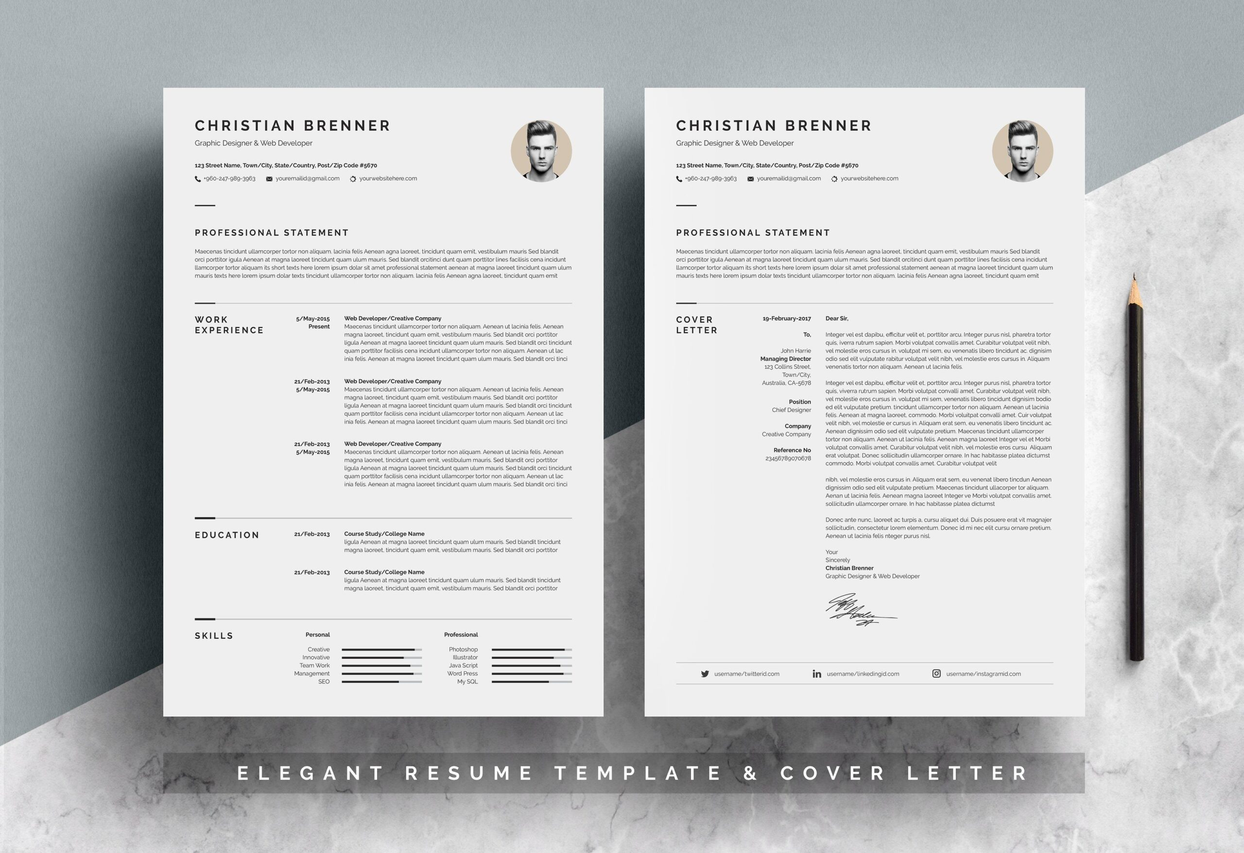 elegant resume template one templates paper size for and application letter skills your Resume Paper Size For Resume And Application Letter