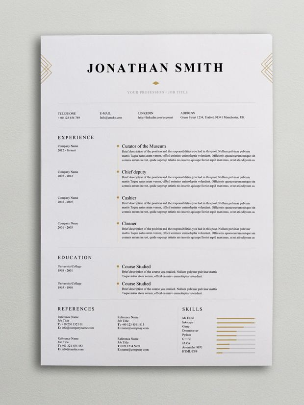 elegant resume template word graphic design oil and gas material controller auto body Resume Elegant Resume Template