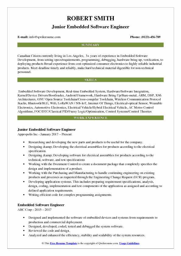 embedded software engineer resume samples qwikresume sample for experienced tester pdf Resume Sample Resume For Experienced Embedded Tester