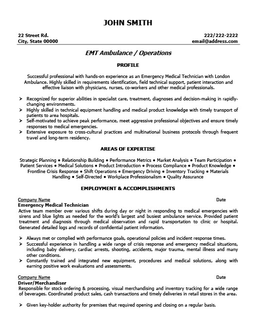 emergency medical technician resume template premium samples example cardiac format Resume Cardiac Technician Resume Format