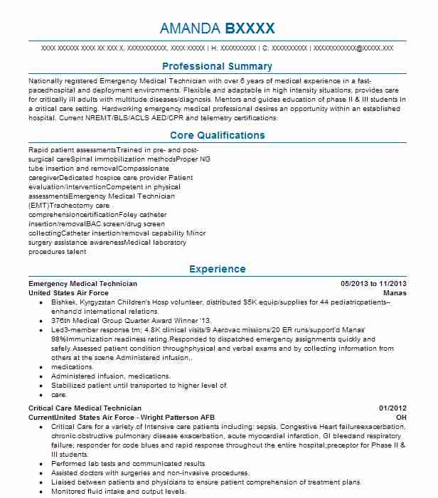 emergency medical technician resume templates paramedic samples tech template examples Resume Paramedic Resume Samples