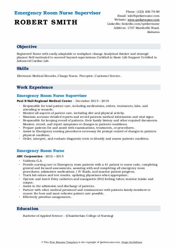 emergency room nurse resume samples qwikresume cover letter pdf email your template Resume Emergency Room Nurse Resume Cover Letter
