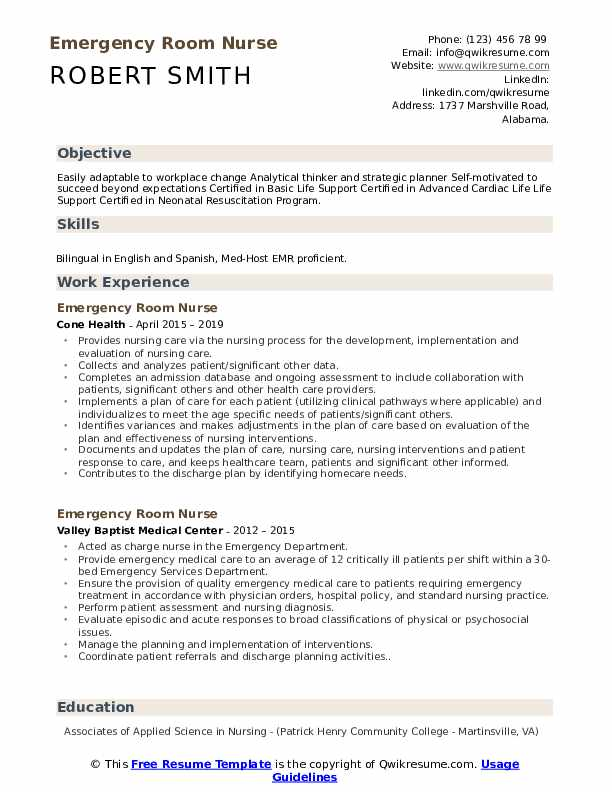 emergency room nurse resume samples qwikresume pdf collection specialist summary examples Resume Emergency Room Nurse Resume