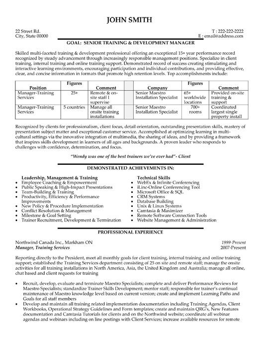 employee training manager resume template premium samples example good examples help Resume Help Train New Employees On Resume