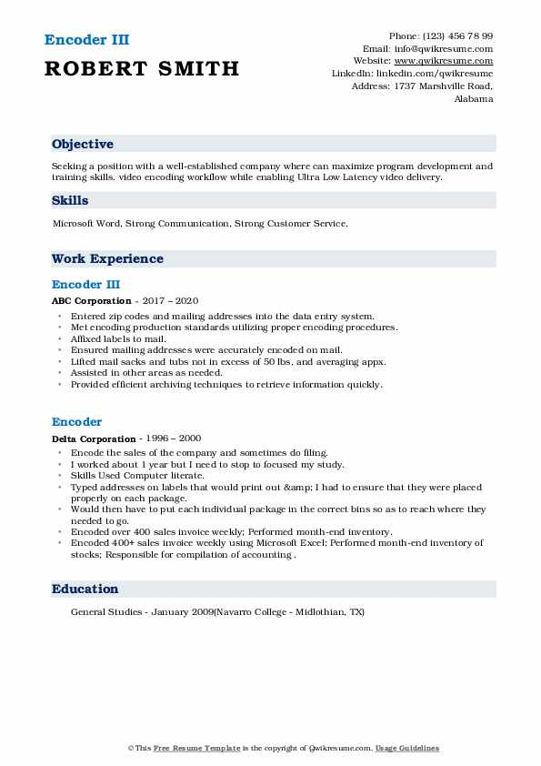 encoder resume samples qwikresume best objectives for pdf heb paper fiverr services with Resume Best Objectives For Resume 2017