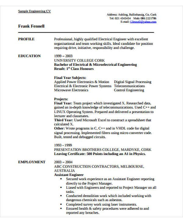 engineering resume templates free premium signal processing engineer experienced Resume Signal Processing Engineer Resume
