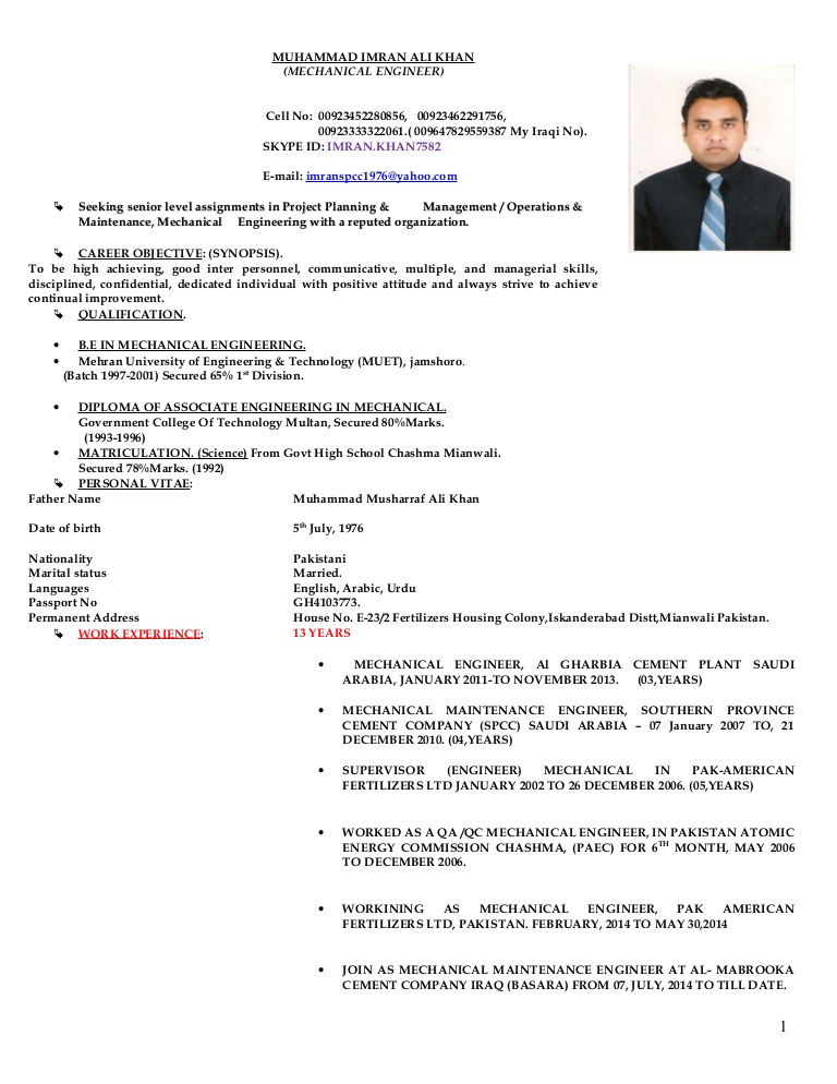 engr imran cv ement resume for cement industry conversion gate02 thumbnail payroll Resume Resume For Cement Industry