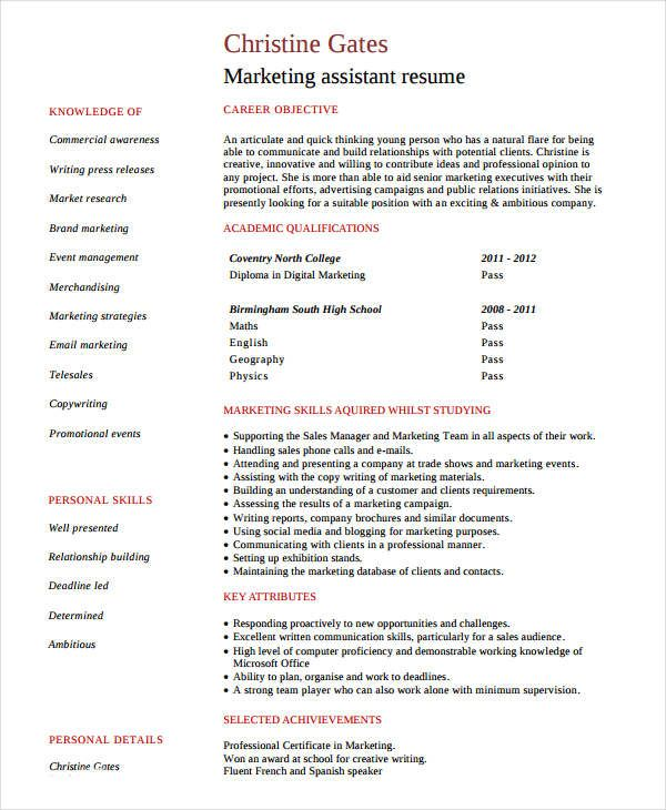 entry level marketing assistant resume samples for successful job hunters it is an irony Resume Entry Level Marketing Assistant Resume