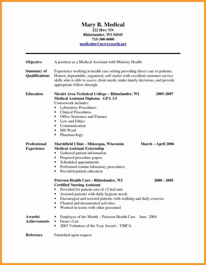 entry level medical assistant resume inspirational sample resumes for assis in coder Resume Entry Level Medical Assistant Resume Objective