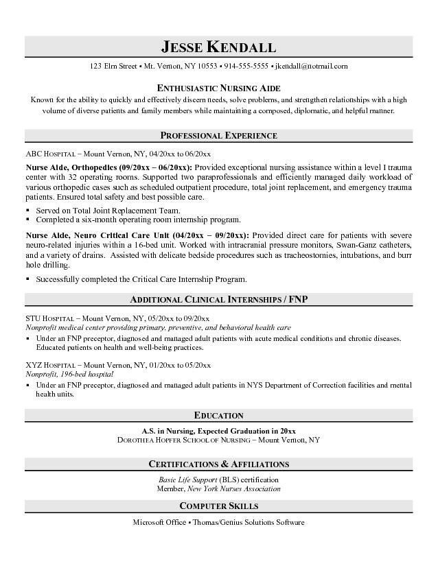 entry level nurse aide resume sample no experience examples objective certified nursing Resume Entry Level Certified Nursing Assistant Resume