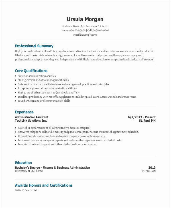 entry level office assistant resume inspirational administrative in functional template Resume Entry Level Functional Resume
