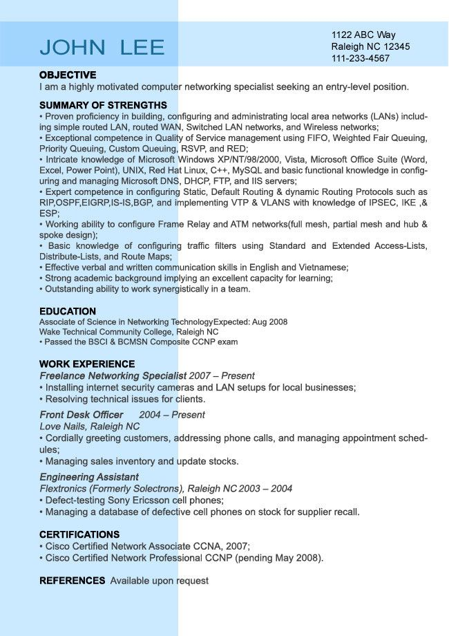 entry level resume sample resumesplanet job examples samples for college students active Resume Entry Level Resume Examples For College Students