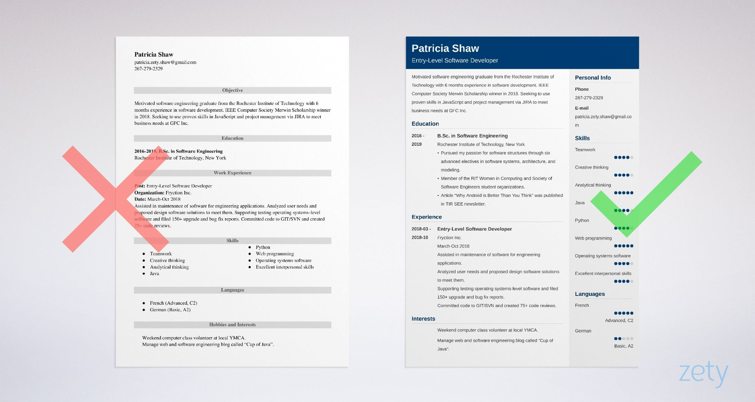 entry level software engineer resume sample guide developer examples example construction Resume Software Developer Resume Examples 2018