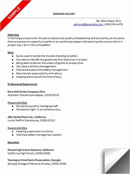 entry level warehouse resume elegant best images about examples on in job samples good Resume Entry Level Warehouse Resume