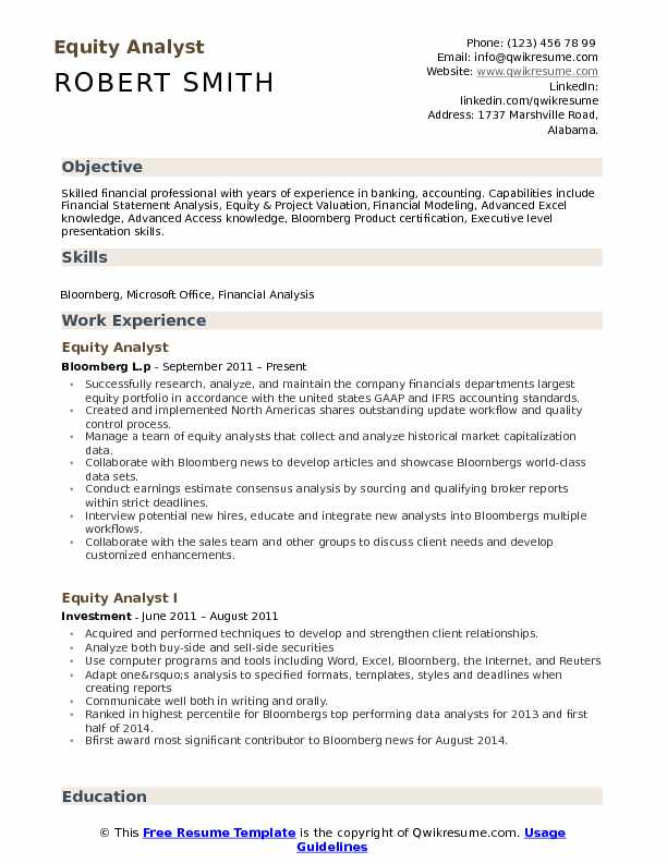 equity analyst resume samples qwikresume research example pdf mba application objective Resume Equity Research Analyst Resume Example