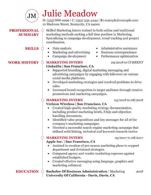 essential student resume examples my perfect first time marketing email icon for hospice Resume First Time Student Resume