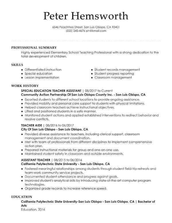 essential student resume examples my perfect tips for students assistant teacher credit Resume Resume Tips For Students