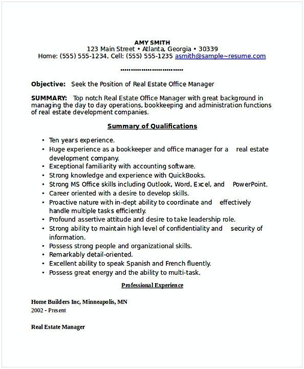 estate office manager resume general find the things that you need to know for your gener Resume Commercial Real Estate Resume