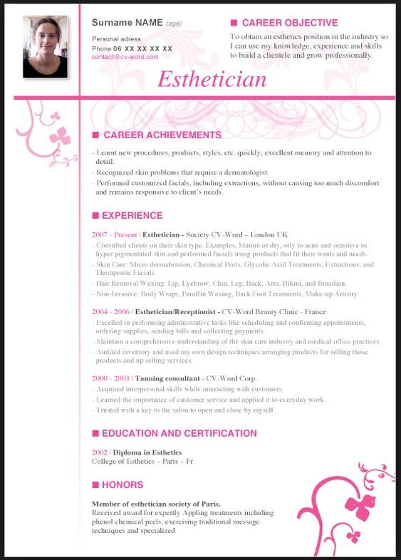 esthetician resume with no experience free templates cover letter for waxing accounts Resume Esthetician Waxing Resume