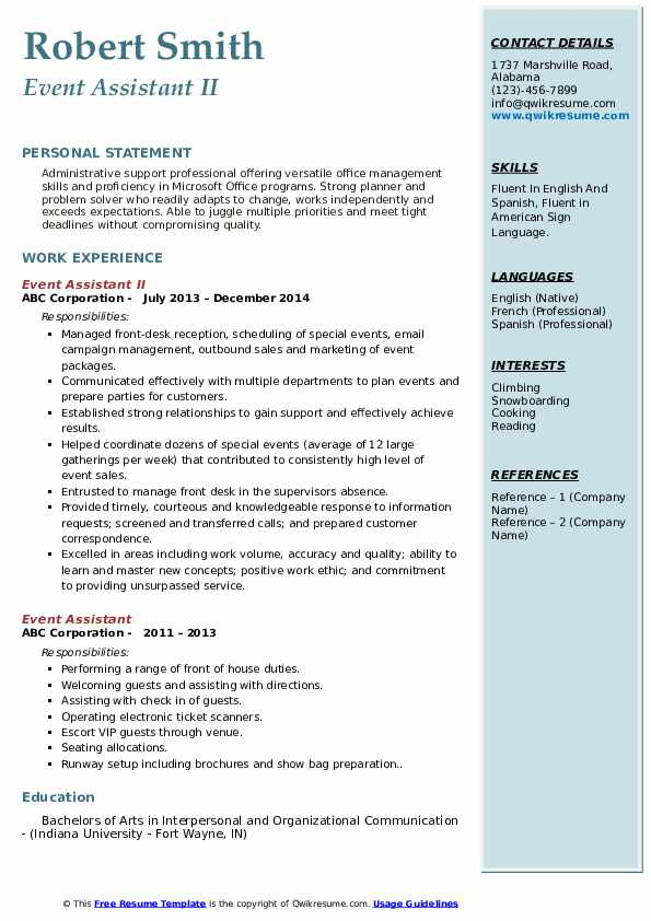 event assistant resume samples qwikresume coordinator pdf action words for business good Resume Event Coordinator Assistant Resume