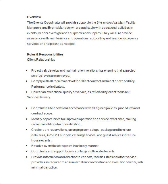 event planner resume templates pdf free premium special events coordinator template word Resume Special Events Coordinator Resume