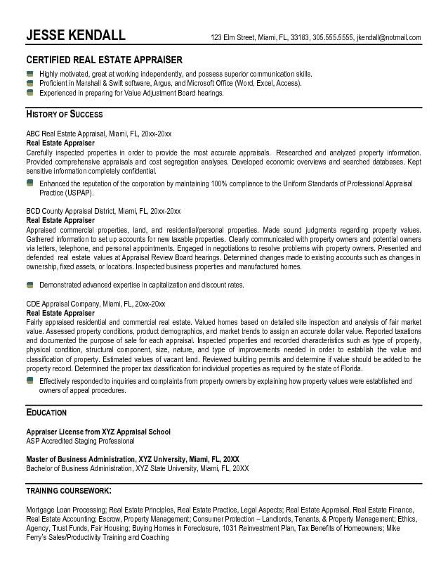 example estate appraiser resume free sample good objective for examples humber police Resume Real Estate Appraiser Resume Objective