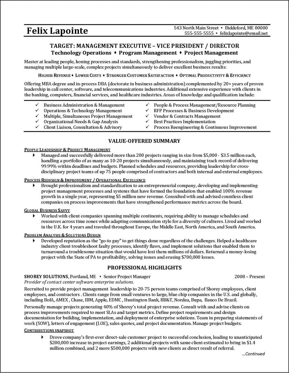 example program manager resume distinctive career services technical examples generic Resume Technical Program Manager Resume Examples