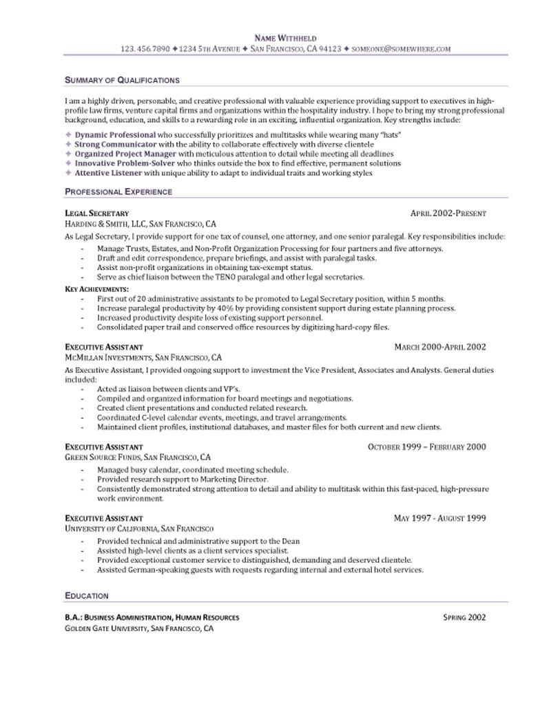 executive assistant resume summary example for an administrative skills teacher entry Resume Resume Summary Example For An Administrative Assistant