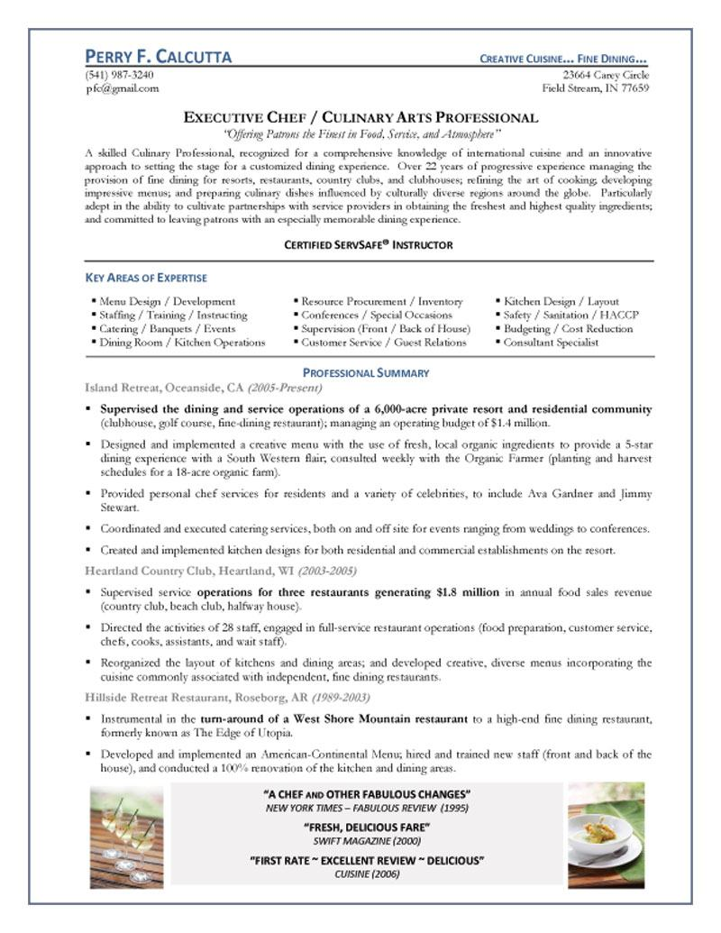 executive chef resume experienced gis refrences network testing strengths for examples Resume Experienced Chef Resume