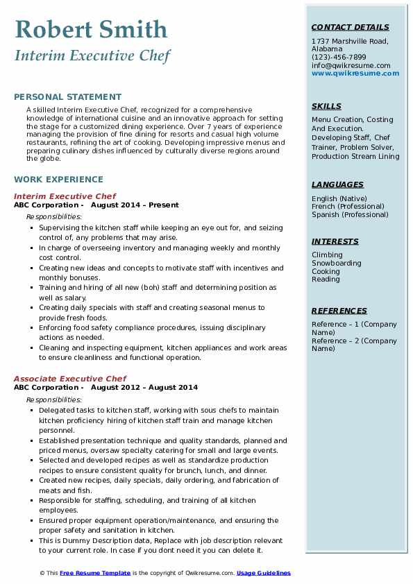 executive chef resume samples qwikresume experienced pdf apple template graphic design Resume Experienced Chef Resume