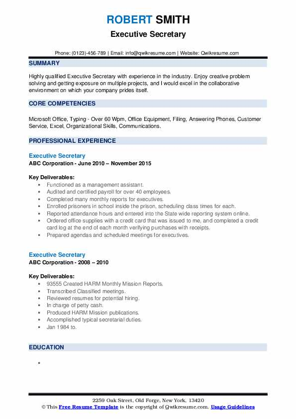 executive secretary resume samples qwikresume admin examples pdf with little experience Resume Executive Admin Resume Examples