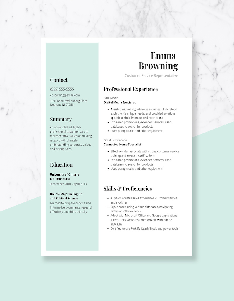 expert resume design ideas from hiring manager simple but effective customer service Resume Simple But Effective Resume