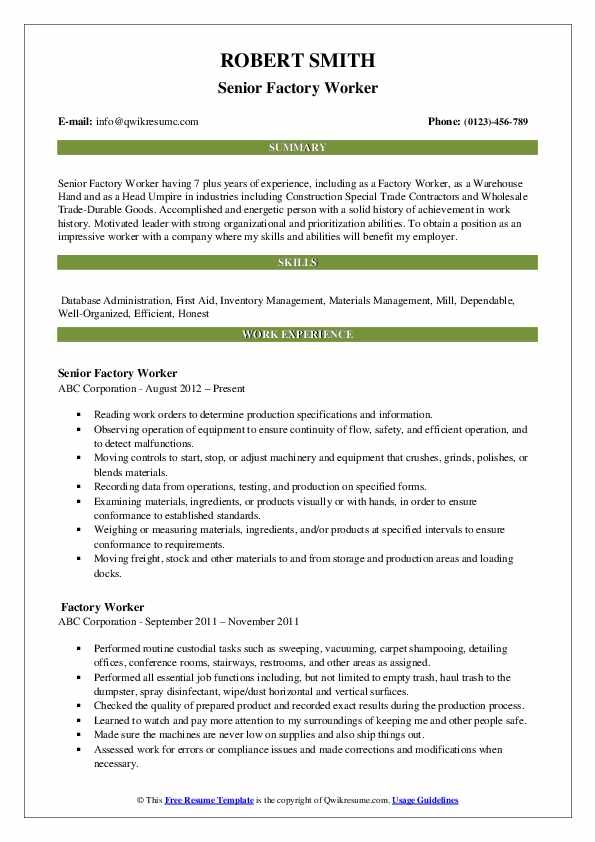 factory worker resume samples qwikresume objective for plant pdf fulfillment coordinator Resume Resume Objective For Plant Worker