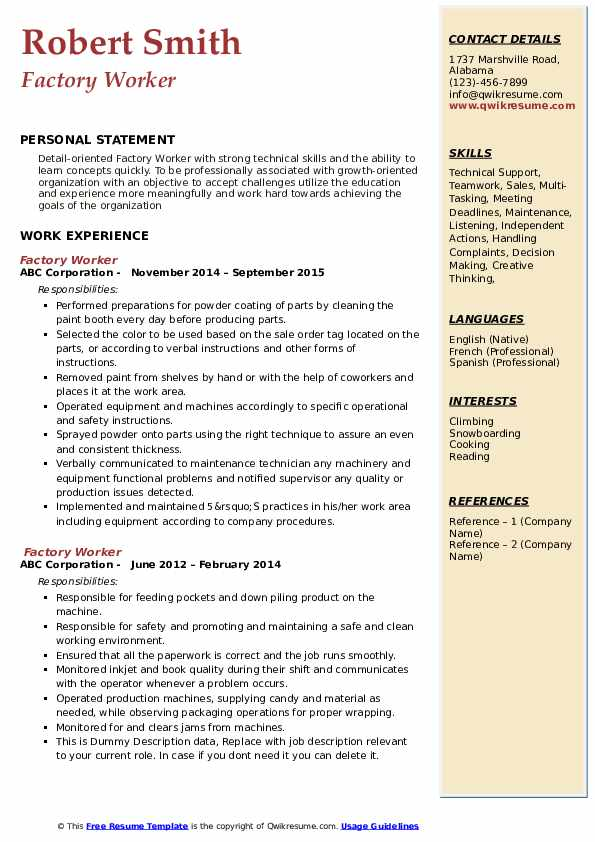 factory worker resume samples qwikresume objective for plant pdf stock inventory putting Resume Resume Objective For Plant Worker