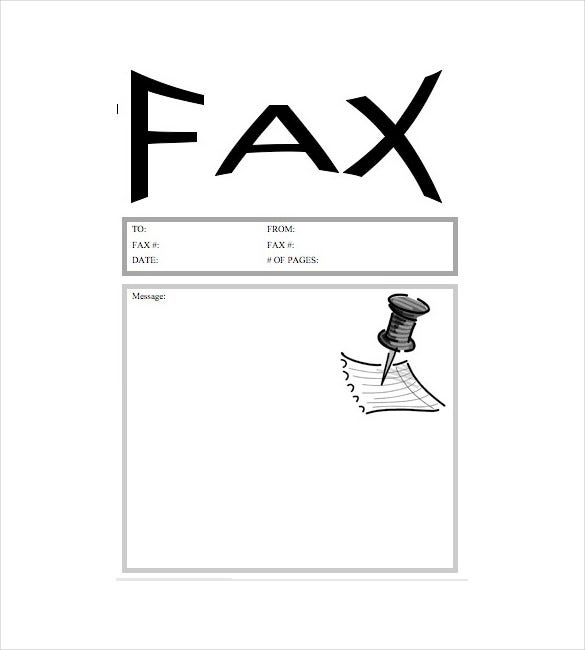 fax cover letter template free word pdf documents premium templates resume pushpin Resume Resume Fax Cover Letter Template