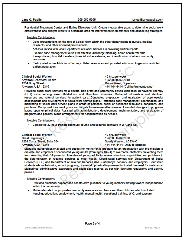 federal social worker resume writer sample the clinic writers san antonio prospect Resume Federal Resume Writers San Antonio