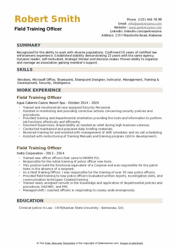 field training officer resume samples qwikresume security pdf bus driver objective Resume Security Field Officer Resume