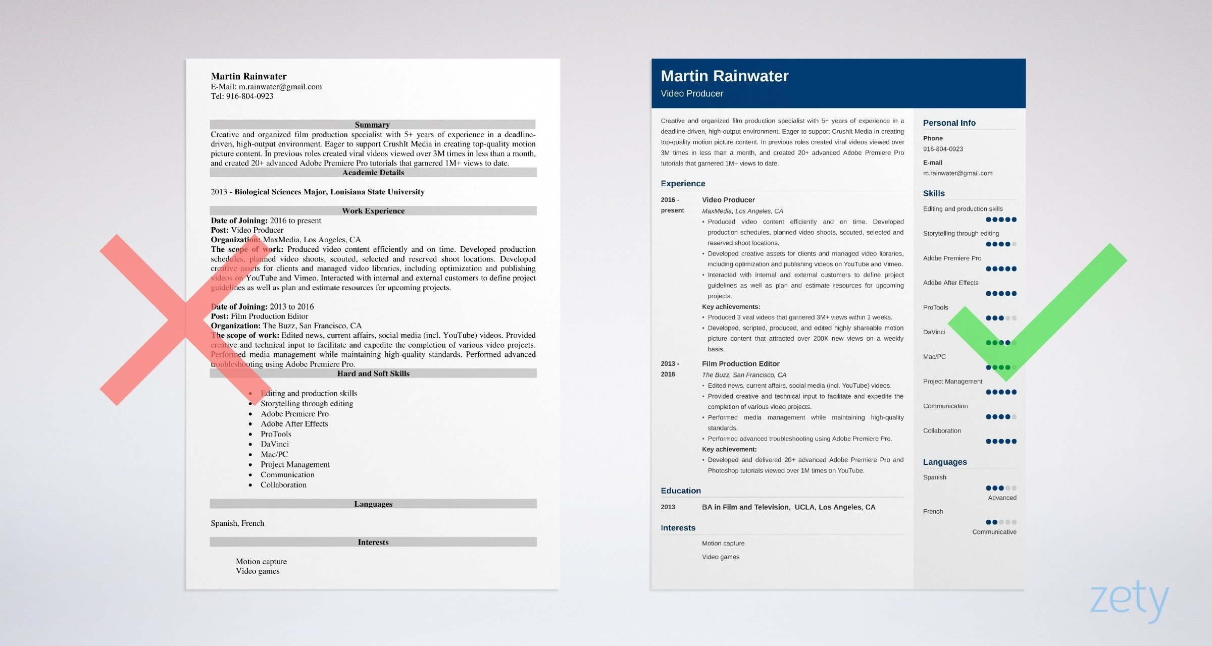 film resume sample writing guide tips industry format example security guard Resume Film Industry Resume Format