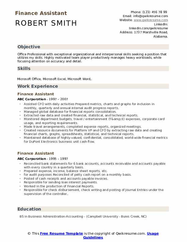 finance assistant resume samples qwikresume summary examples for pdf paid builder awards Resume Resume Summary Examples For Finance