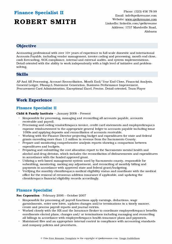 finance specialist resume samples qwikresume financial pdf production assistant examples Resume Financial Specialist Resume