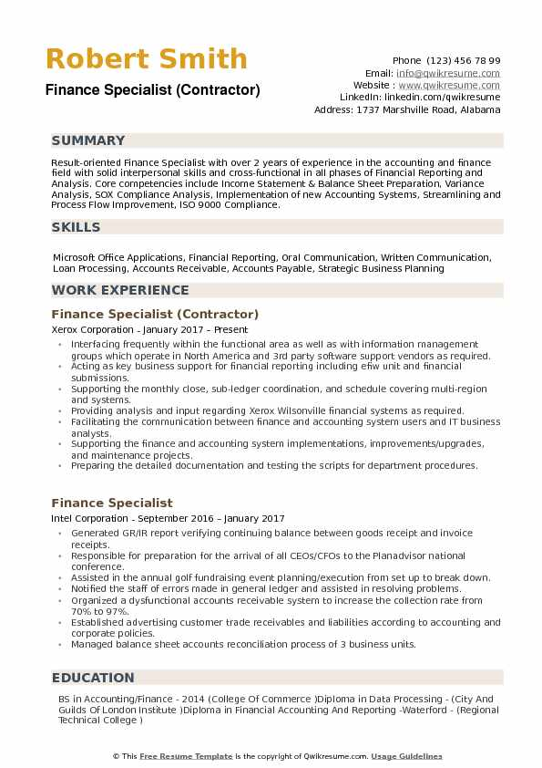 finance specialist resume samples qwikresume summary examples for pdf management system Resume Resume Summary Examples For Finance