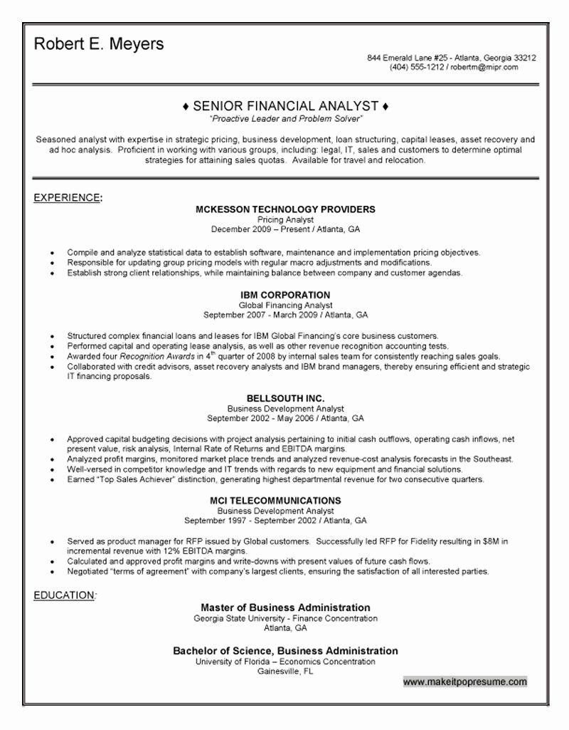 financial analyst resume example awesome senior in sample truck driver skills and Resume Senior Financial Analyst Resume Sample