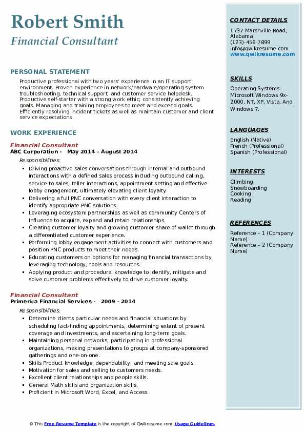 financial consultant resume samples qwikresume planner pdf film editor hardware examples Resume Financial Planner Resume